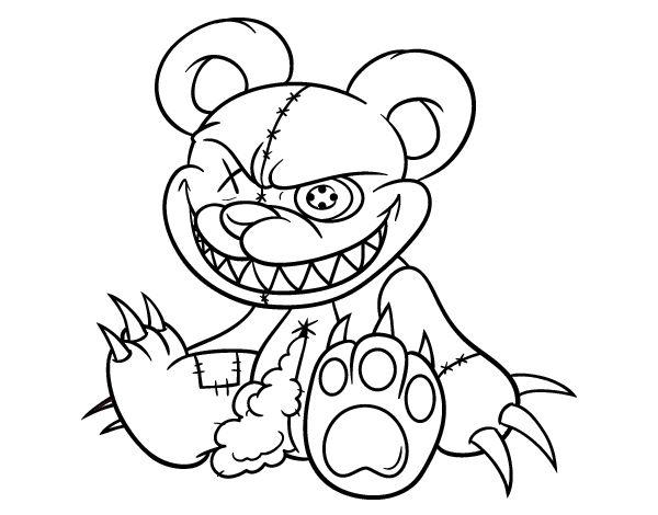 Dibujo De Osito Monstruoso Para Colorear Dibujos Monstruos Pinterest
