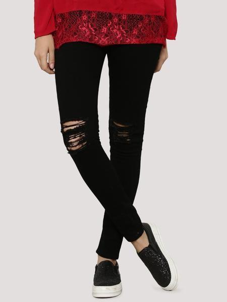 LadyIndia.com # Women Skinny Jeans, LIQUOR N POKER Knee Ripped Skinny Jeans, Jeans, Danims, Women Skinny Jeans, Ripped Jeans, https://ladyindia.com/collections/western-wear/products/liquor-n-poker-knee-ripped-skinny-jeans?variant=30287435917