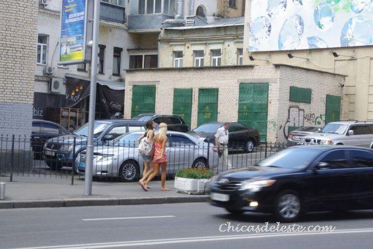 Calles de Kiev, Ucrania.