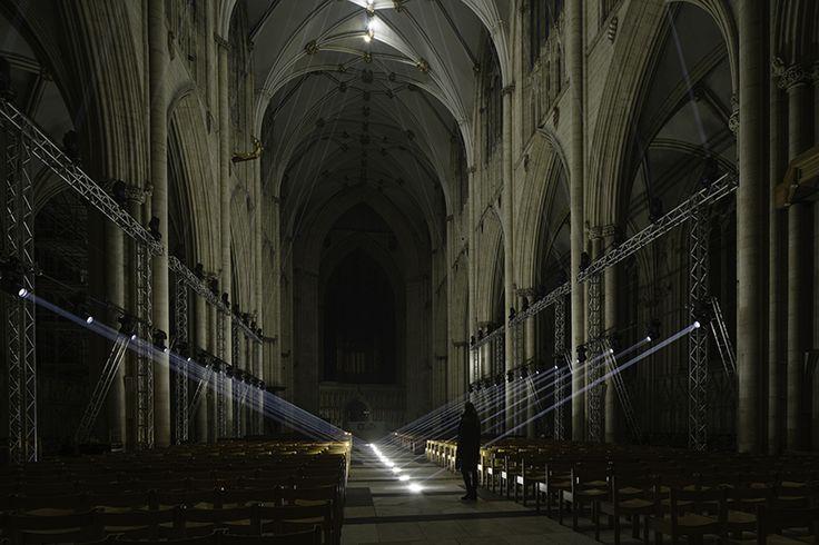 jason bruges' 'light masonry' eerily illuminates york cathedral