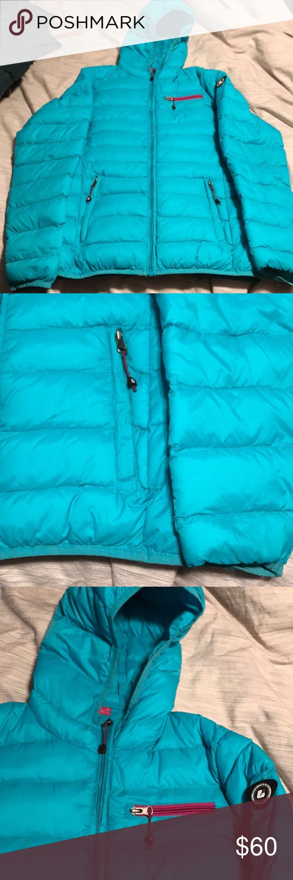 Killtec Puffer Jacket EUC warm Puffer Jacket with hood. Adorable blue color with purple accents on zippers. Smoke free home 😊  *NOT Patagonia but the brand has very similar features in their products * killtec was not an option for brand in posh Patagonia Jackets & Coats Puffers