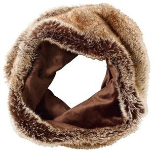 Faux-Fur Snood | Brown by Indigo #indigostyle
