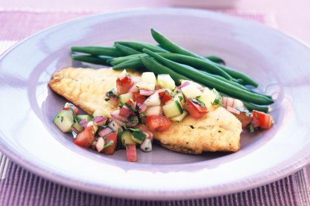 Fish with Cucumber Salad