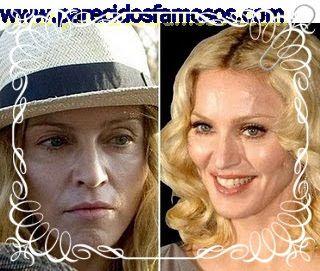 Parecidos con famosos: Madonna sin maquillaje