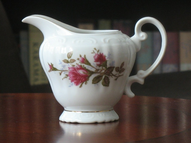 Moss Rose Fine China Royal Rose Creamer. $14.00, via Etsy.