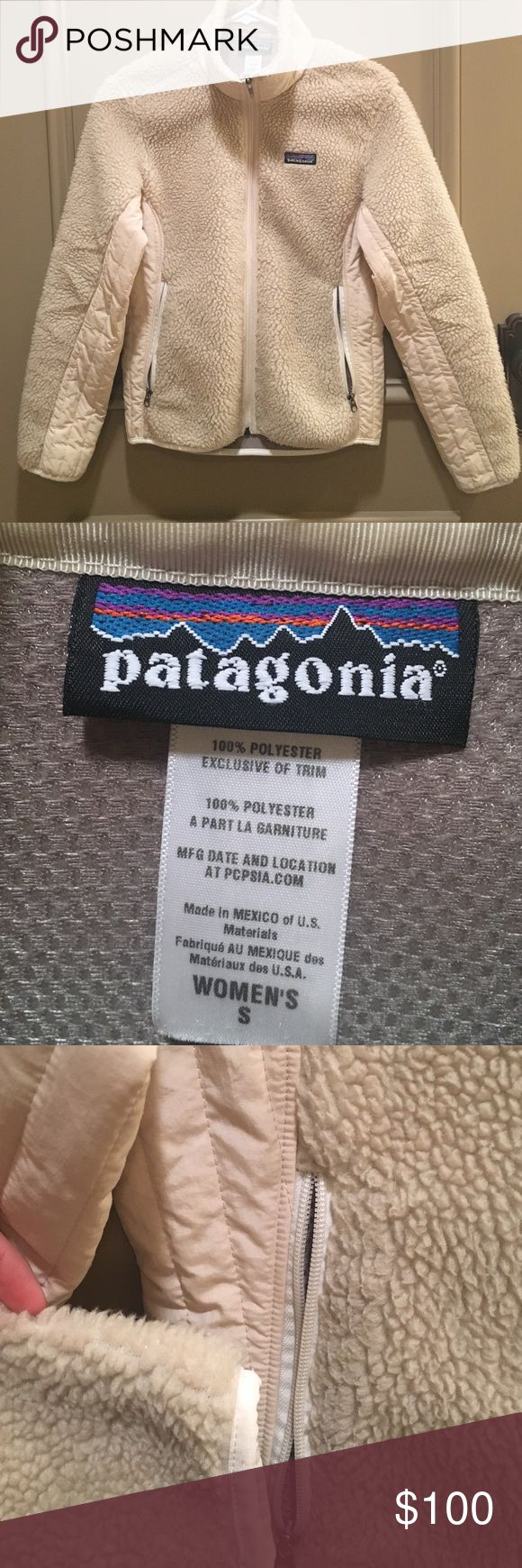 Patagonia Fleece Jacket Ivory Patagonia fleece shell jacket.  EUC Patagonia Jackets & Coats
