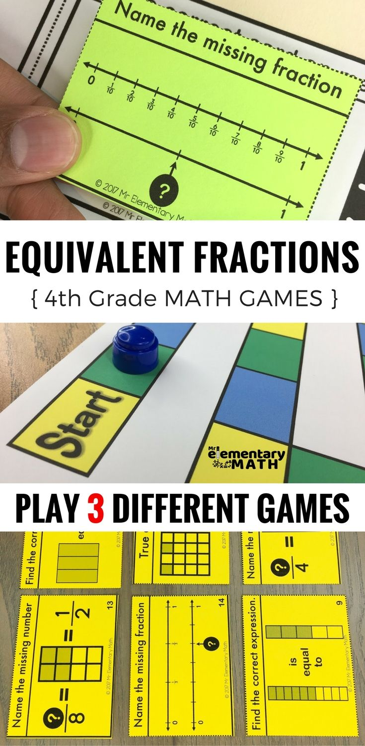 Equivalent fractions games for your 4th grade students are a fun alternative to worksheets. Check out these 3 math games that are great for your 4th grade math centers.