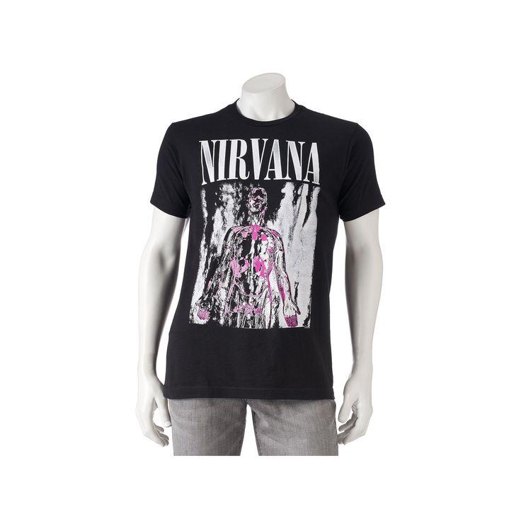 Men's Nirvana Band Tee, Size: Medium, Black