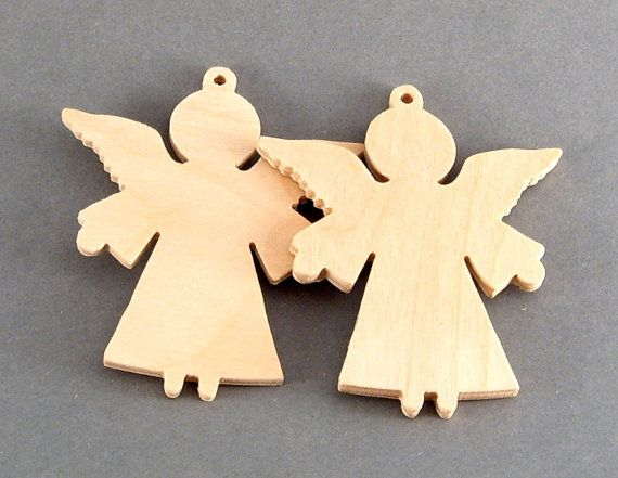 Wooden Angel Ornament / Christmas tree decor / by TinyLizardGifts