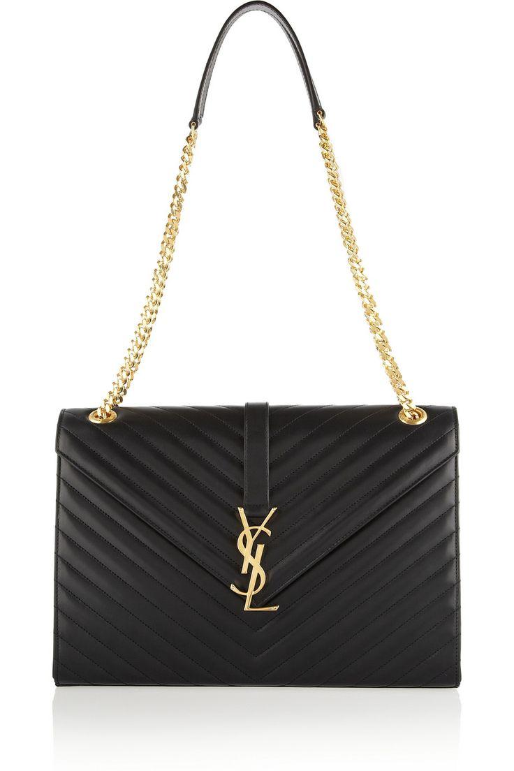 Saint Laurent|Cassandre large quilted leather shoulder bag