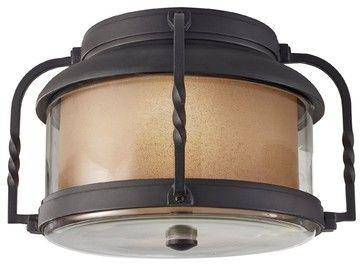 Murray Feiss Menlo Park Transitional Outdoor Flush Mount Ceiling Light X-BXT3129 transitional-ceiling-lighting