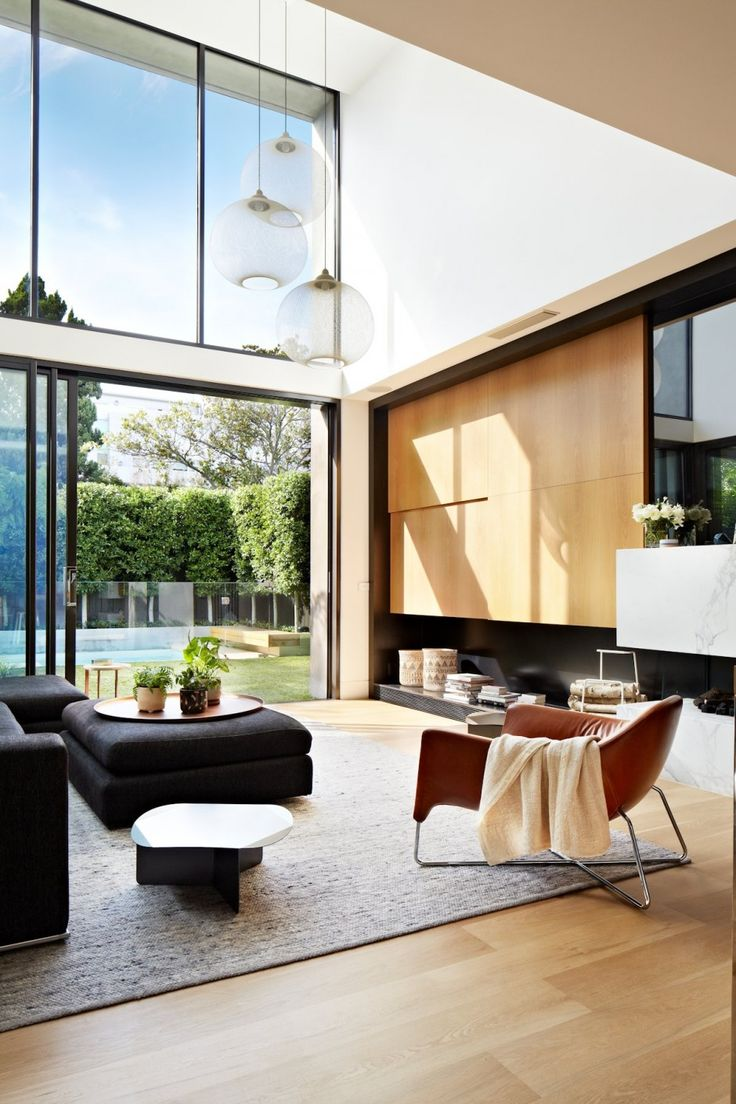 Victorian house colorful interiors for a classy exterior south yarra - Fortress Exterior Reveals Open Interiors Surrounding Central Courtyard