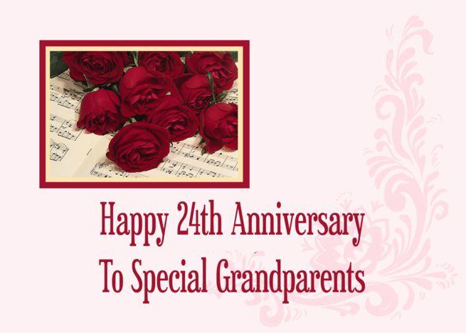 Grandparents 24th Anniversary Card Anniversary Cards 1st