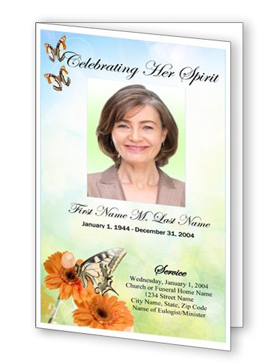 30 best Top Funeral Program Template Designs images on Pinterest - funeral announcement template free