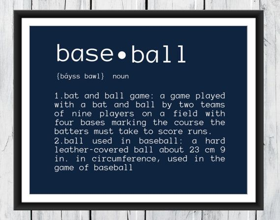 Baseball Definition 8x10 Print by TheEducatedOwl on Etsy, $10.00