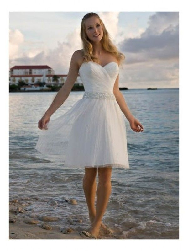 Simple white summer wedding dresses