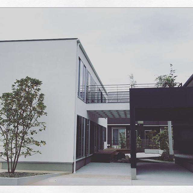 完成!no.2    #建築#デザイン#住宅#かっこいい#つくば#家の横顔#アウトドアリビング#抜け感のある空間