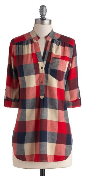 Pretty plaid. Got this and love it! Lumberjack style!