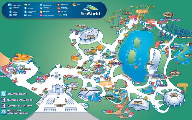 Seaworld Texas Map | Business Ideas 2013