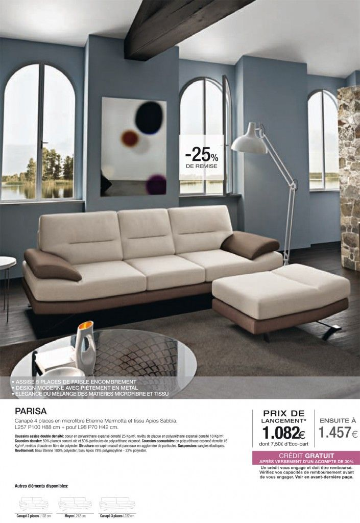 canap 4 places parisa chez poltronesofa village du meuble m rignac poltronesofa m rignac. Black Bedroom Furniture Sets. Home Design Ideas