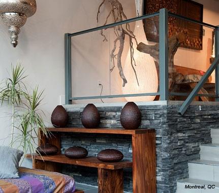 Interior Feature: Black Rundle PRO-FIT® ALPINE LEDGESTONE - Cultured Stone® Brand