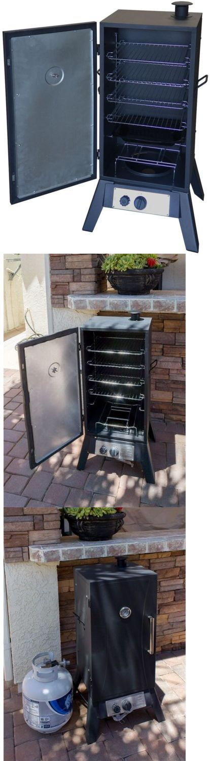 Barbecues Grills and Smokers 151621: Steel Vertical Propane Smoker 5-Rack Bbq Built-In Thermometer Variable Temp -> BUY IT NOW ONLY: $145.45 on eBay!