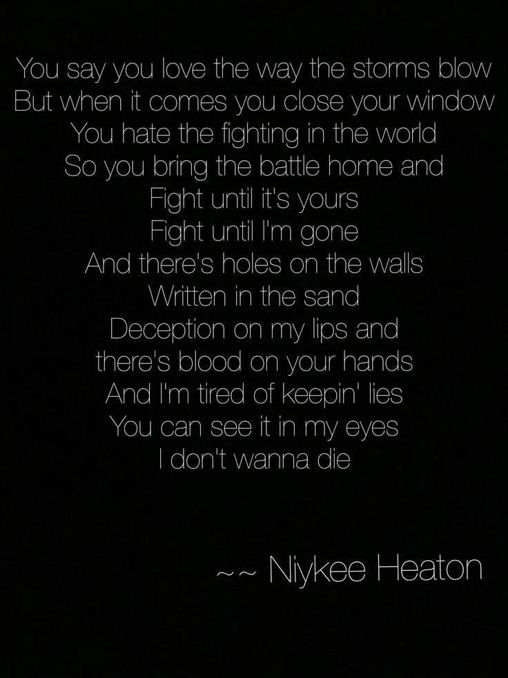 Bad intentions.  Niykee Heaton