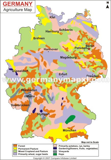 German land use map Maps Pinterest
