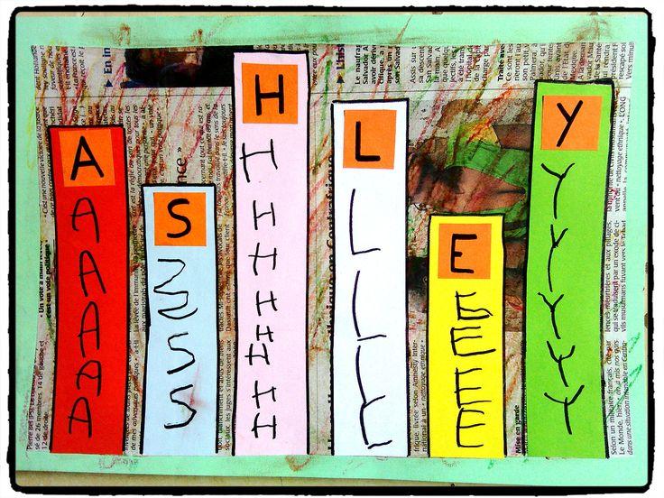 apprendre a écrire son prénom, bricolage enfant