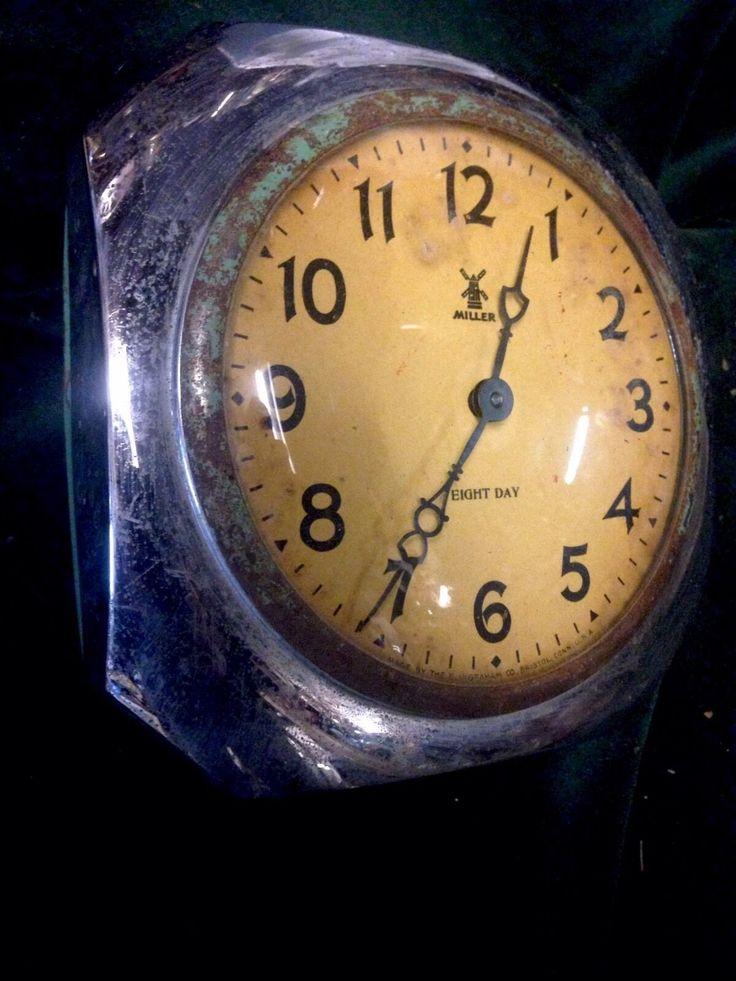 Art Deco Octagonal Chrome Clock Miller Eight Day Ingraham Co Bristol USA | eBay