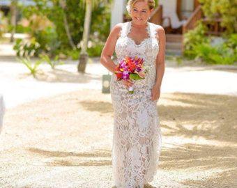 Boho Chic Wedding Dress Flowy Wedding Dress von PolinaIvanova