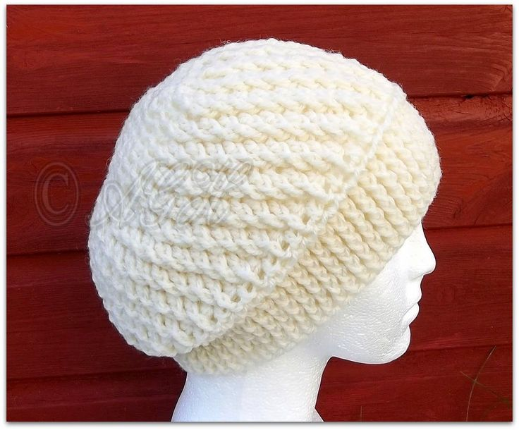 Accidental Spiral Slouch Hat. FREE pattern!