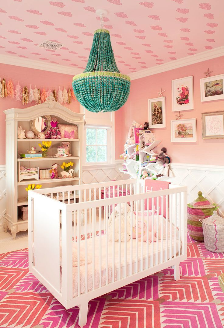 The 13 Chicest Celebrity Nurseries via @MyDomaine Kourtney Kardashian