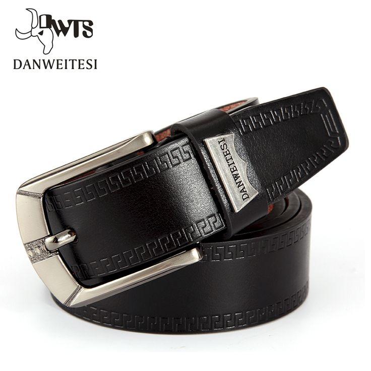 [DWTS]2016 Fashion Men Belt Faux Leather Waistband Vintage Classic Pin Buckle Design Belts For Men ceinture homme luxe marque