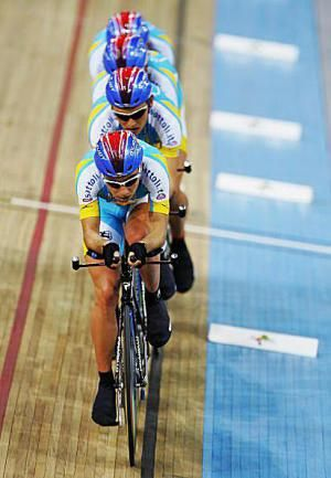 How to Make it to the Olympics - Your Road to Olympic Track Bike Racing: The Ukraine cyclists compete in the Team Pursuit race at the 2007 UCI Track Cycling World Championship.