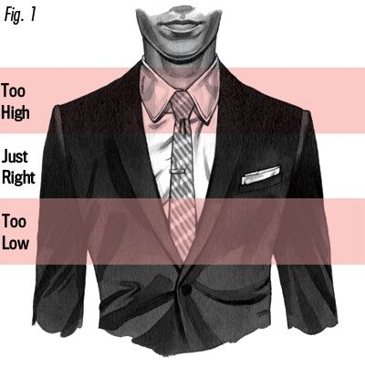 For the cheapest Mens Fashion, come to kpopcity.net!! Men: Your tie bar should go between the third and fourth buttons of your dress shirt.