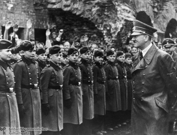 Adolf Hitler Visits the National Political Educational Institute [Napola] in Graz (April 1941.