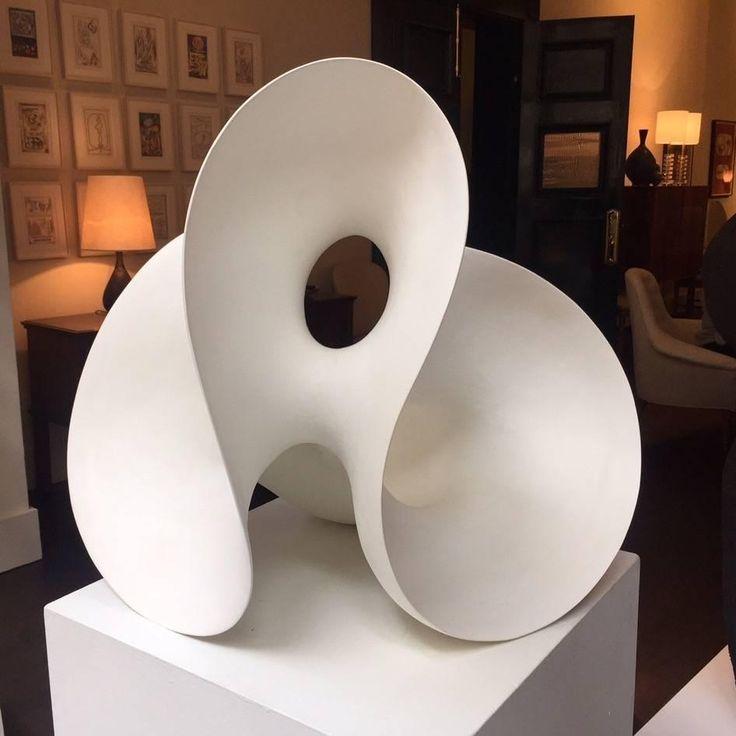 """Eva Hild, """"Loop"""" Unique Stoneware Sculpture, 2004 2"""