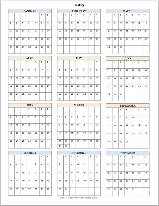 Printable Yearly Calendar Printable Calendars Templates Free