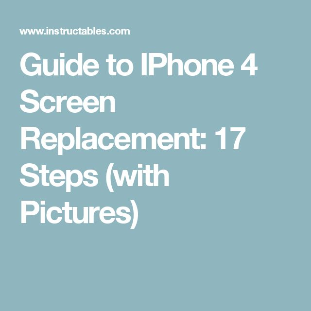 iphone 4 screen replacement guide