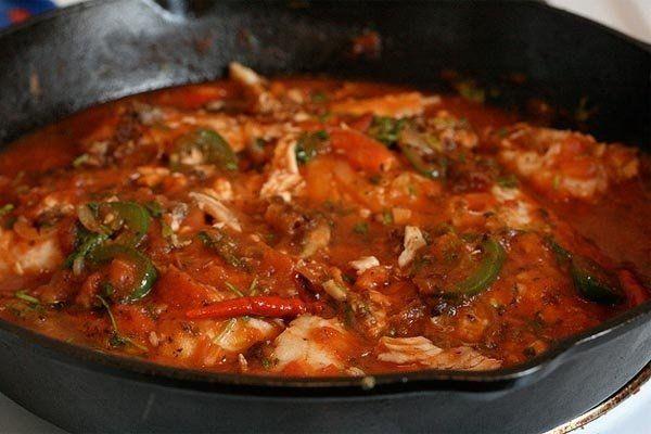 Foto de la receta de filetes de pescado a la veracruzana