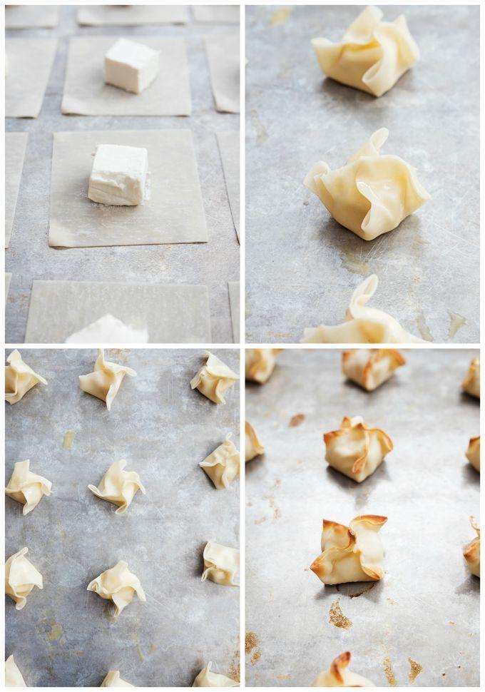 Baked Cream Cheese Wontons (A.K.A. cream cheese rangoon) - Creme De La Crumb