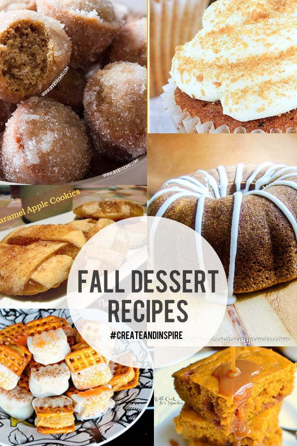 Create & Inspire Party | Fall Dessert Recipes - A Night Owl Blog   ☀CQ #fall #recipes. Thank you for sharing! ¯\_(ツ)_/¯