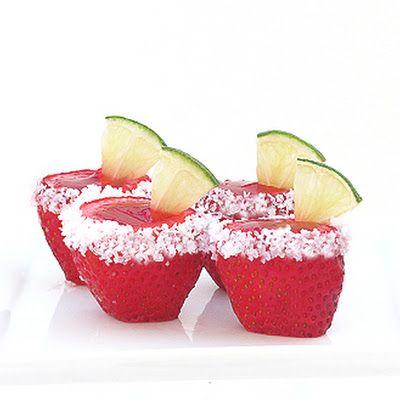 Strawberry Margarita Jello Shots @keyingredient