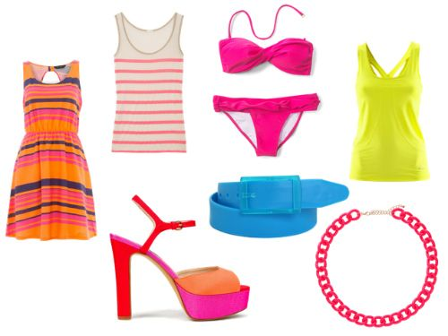 Neon Clothes and Accessories a great way to stay in this years fashion