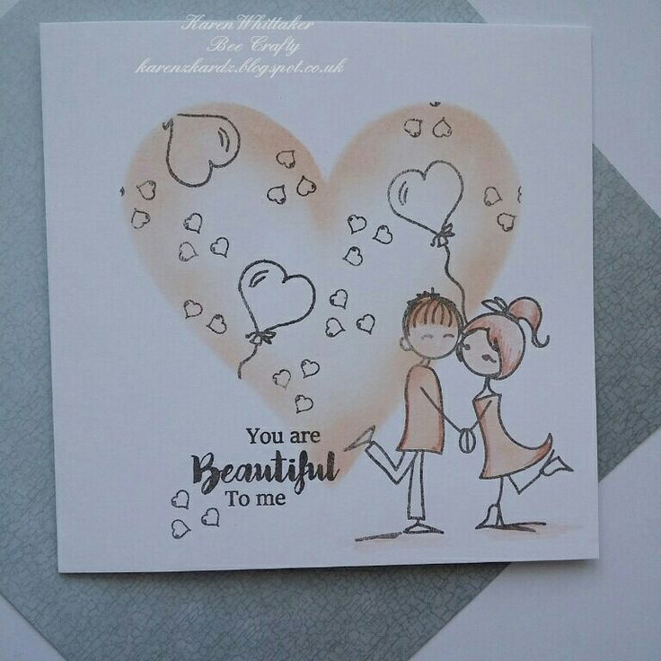 Fleur and Freddie stamps by Bee Crafty #beecraftystamps #dtsample #fleurandfreddie #love #cute #fun #heart #distressoxides #stamps #stamping #card #creative #craft #ilovetocraft #creativity