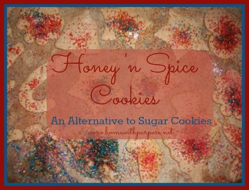 Honey 'n Spice Cookies: A Healthier, Delicious Alternative to Sugar Cookies - Home With Purpose