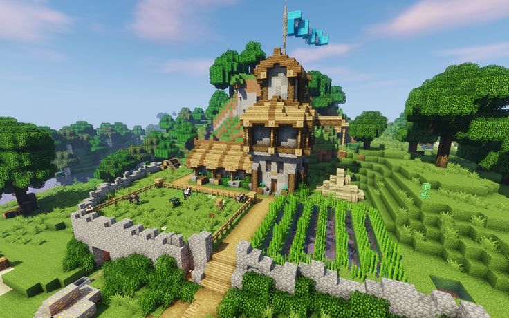 Found a server with an economy that is actually functioning, so I decided to make a church where I could make books! :) : Minecraft