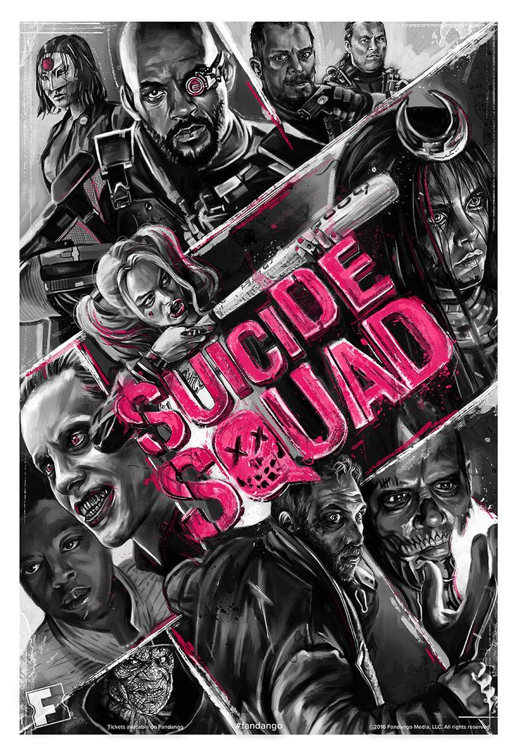 Suicide Squad Promotional Poster on Behance