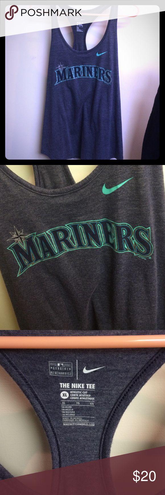 Blue nike Mariners tank top! Blue nike Mariners tank top! Only worn once super cute! Nike Tops Tank Tops